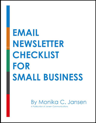 Email Newsletter Checklist for small business - Jansen Communications