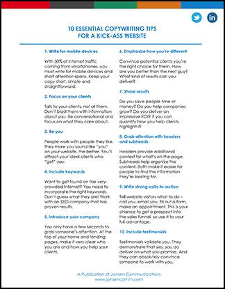 10 Essential Copywriting Tips