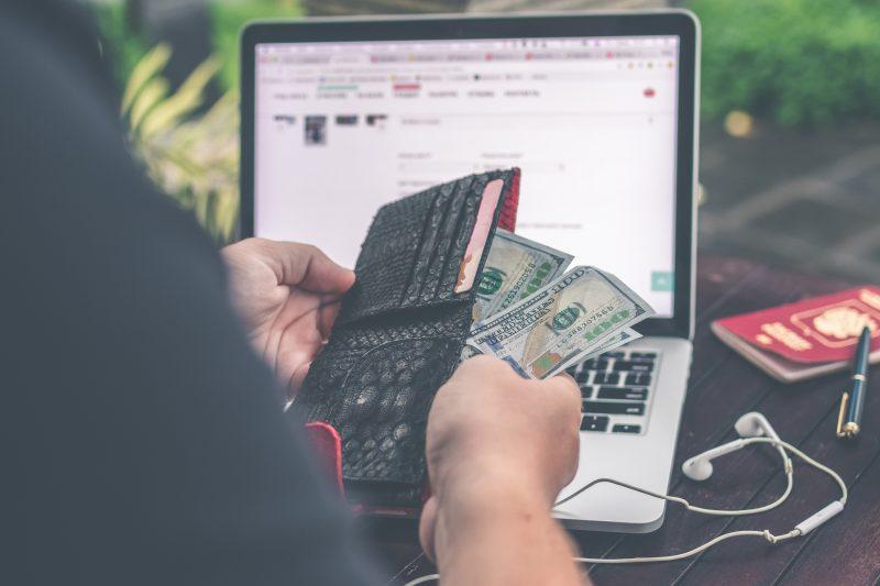 money, wallet + online shopping | website lead generation