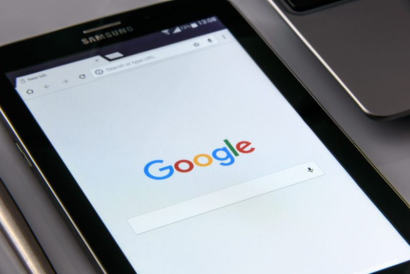 Google search page | voice search