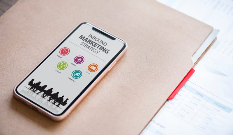 strategy graphic on smartphone   content marketing
