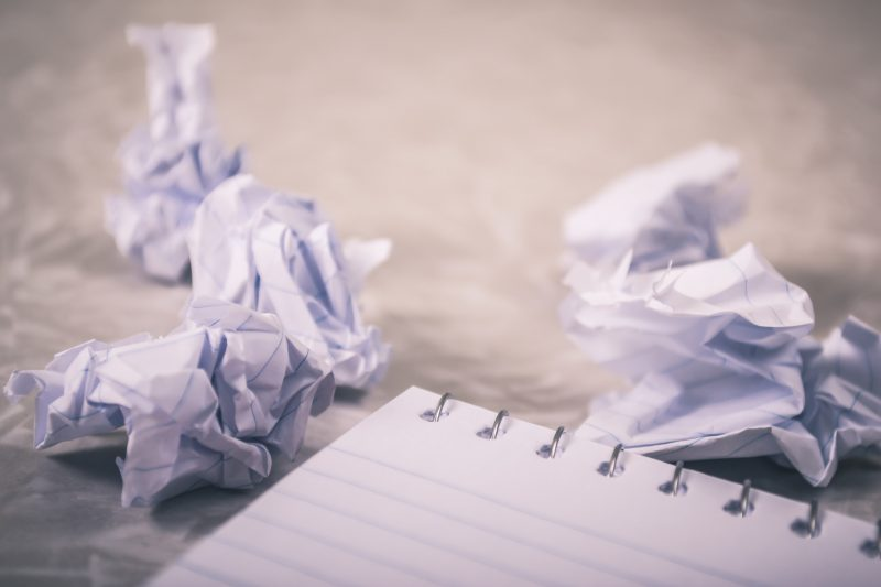 crumpled pieces of paper | ditch facebook marketing