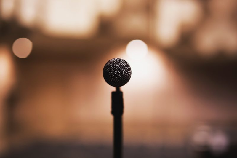 microphone backlit | public speaking