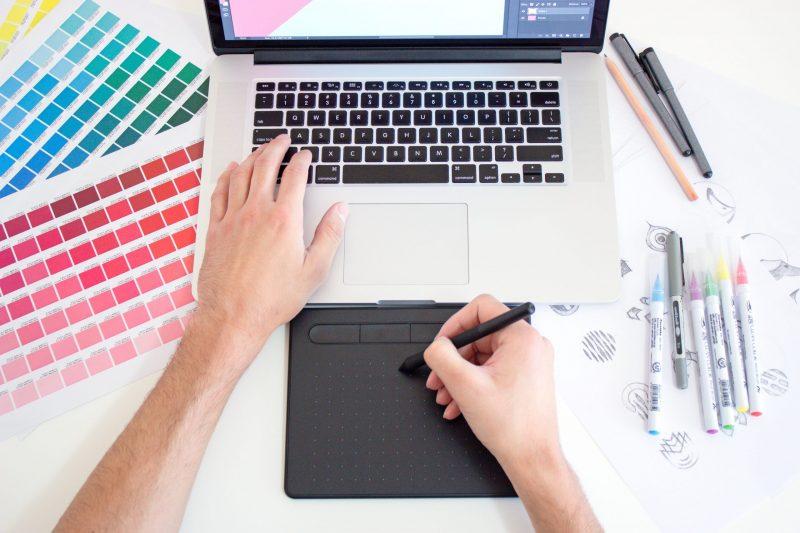brochure   graphic designer working
