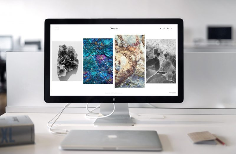 website displayed on a monitor | website content
