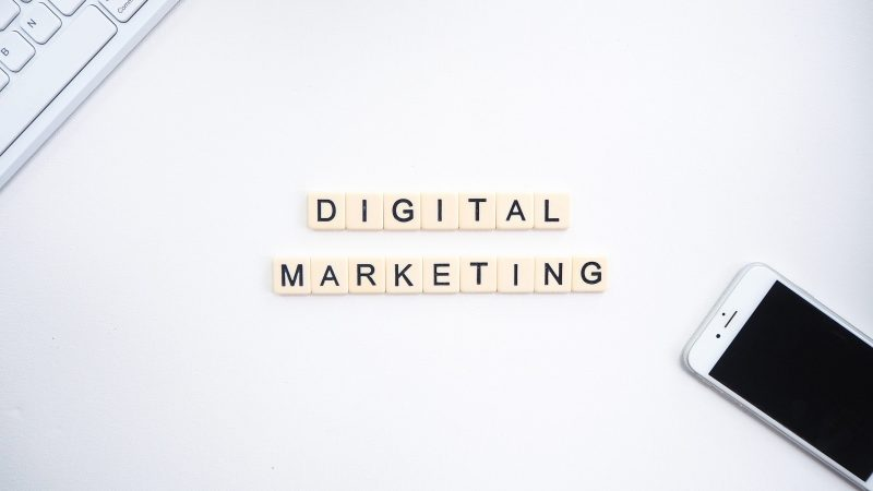 Scrabble letters: digital marketing | diy marketing