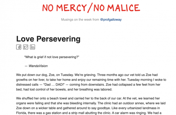 No Mercy/No Malice from Prof G