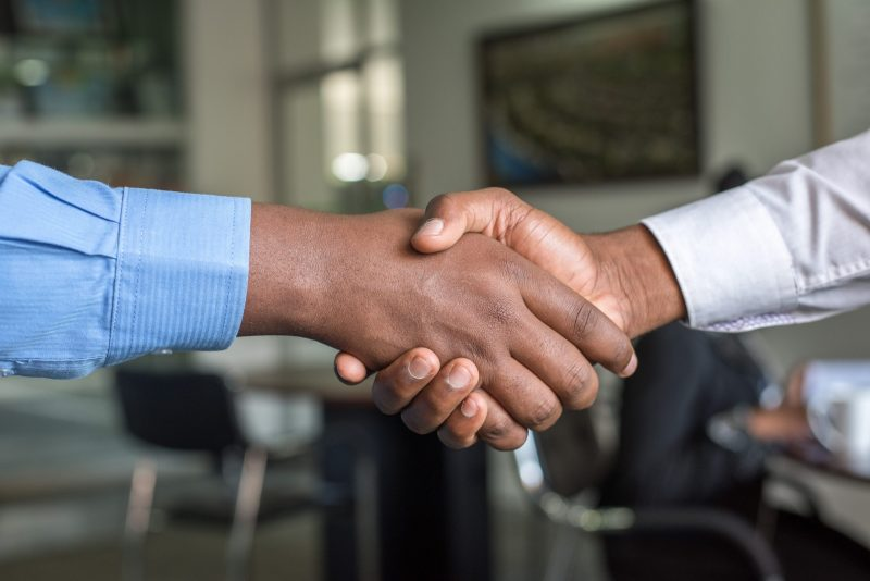 shaking hands | marketing is working