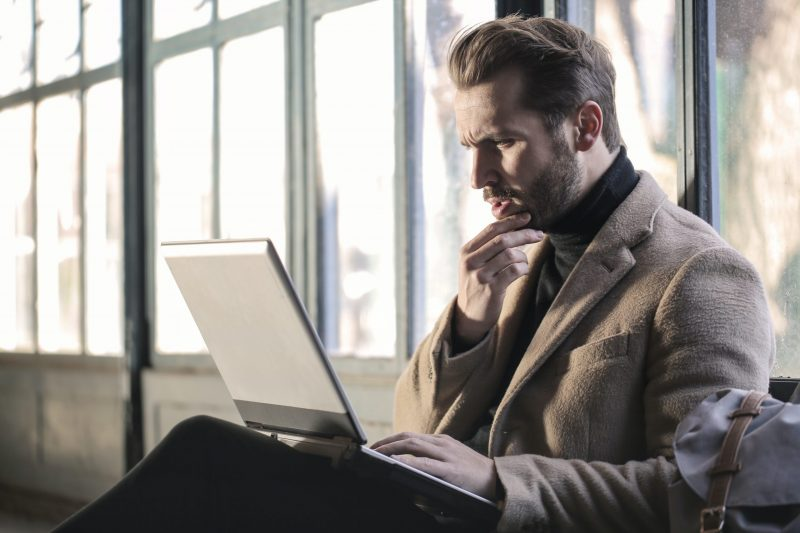 confused person on computer | brand messaging